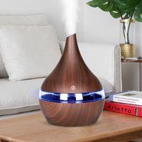 KBaybo 300 мл USB Electric Aroma Aroma Диффузор увлажнителя Древесина Ультразвуковая эфирное масло Ароматерапия Прохладный Mist Maker для дома