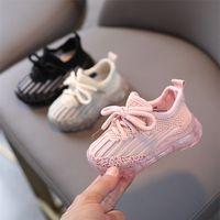 Zapatos de bebé de primavera de AOGT para niña niño suave cómodo infantil deporte zapatos de punto transpirable sin deslizamiento infantil zapatillas 210326