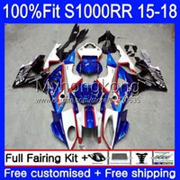 Injection Mold Fairings For BMW S 1000RR Blue black new S1000-RR S1000RR 15 16 17 18 Bodywork 2No.6 S 1000 RR S-1000RR S1000 RR 2015 2016 2017 2018 100% Fit OEM Bodys kit