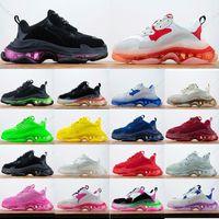 2021 luxury sneakers clear sole triple s casual dad designer shoes men women platform paris 17FW vintage old crystal bottoms triple-s balencaiga designer size 36-45