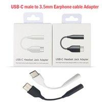 الأصلي USB-C إلى سماعة كابل محول 3.5 ملليمتر نوع C سماعة جاك الصوت الذكور / أنثى لسامسونج ملاحظة 10 20 بلس S10 S20 S21 مع حزمة البيع بالتجزئة