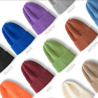 Outdoor Autumn and winter hat solid color woolen cap fashion warm ear protection knitted skull caps