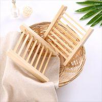 Rápido transporte natural sabonete de madeira prato de madeira bandeja portador de armazenamento de armazenamento placa de placas de sabão recipiente para banho de chuveiro banheiro 2089 v2