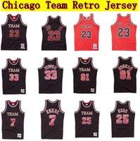 Michael 91 Rodman 33 Pippen 25 Kerr 7 Kerr 7 Kukoc 1 Rose 1995-96 Finales Jersey Mitchelless Hardwoods Classics Retro Wear