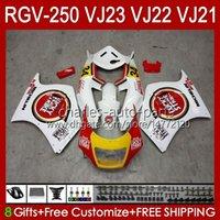 OEM Bodywork para Suzuki Lucky White RGVT RGV 250 CC RGV250 SAPC VJ23 Cowling RGV-250CC Body 107HC.71 RGVT-250 VJ 23 RGV-250 Panel 97 98 RVG250 250cc 1997 1998 Kit de carenización