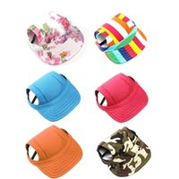 Собака для собак с ушными отверстиями PET бейсболка ветрозащитные путешествия спортивные солнце шляпы головной убор для щенка большие домашние животные наружные аксессуары одежды