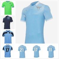20 21 Lazio Soccer Jersey 120th 2021 Camisa de Futebol Luis Alberto Immobile Sergej Homens Kits Kits Maillot Maglia Correa Corozozo Marusic