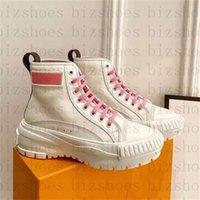여성 럭스 디자이너 신발 화이트 캔버스 송아지 가죽 Chaussures 트레이너 스포츠 바이 컬러 chunky quad sneaker boot xianghuaqiang