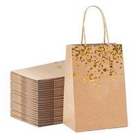 Sac de cadeau de haute qualité Simple Paper Sac de cadeau Kraft Candy Boîte avec poignée Feuille d'anniversaire de mariage Forfait pour walling d'année