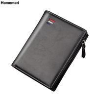 Homemari Mode Männer Geldbörse Casual Multi-Card-Position Halter dünne Münze Geldbörse Tragbare Bifold Männliche Kupplungsbeutel Brieftaschen