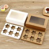 Gift Box Kraft Paper With PVC Clear Window Candy Chocolate Cookies Cake Boxes Wedding Birthday Party Packaging Supply Wrap