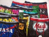 Estilos aleatórios PSD Underwear Homens Unisex Boxers Esportes Floral Hiphop Skateboard Rua Moda Streched Legging Mix Cor S / 2xl