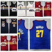 2021 Uomini Jamal 27 Nikola Murray 15 Jokic Michael Porter Jr. 1 Jersey Pallacanestro Jersey Tutti cuciti hanno una patch di alta qualità