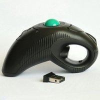 MICE USB OPTICAL OPTICAL TRACK BALLING OFF-TABLE UTILISER LA SOURISINE AVEC POINTER LASER AIR PORTÉE DE PORTÉE BLACK