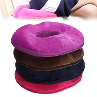 Cushion Decorative Pillow Home Soft Orthopaedic Seat Cushion Memory Foam Tail Bone Coccyx Pain Relief Donut Shaped For Office Women Relax