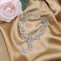 Bijoux de Fille Bijoux Fleur Bracelet Bracelet Cherry Blossoms String Chaîne de poignet Chaîne Plaque Pendentif Pendentif Meilleur cadeau pour l'amant