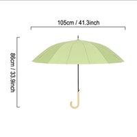 مقبض طويل مستقيم مظلات شبه التلقائي الصلبة اللون المطر مشمس قوي يندبروف مظلة كبيرة متعددة الألوان KKB7450