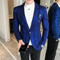 Herrenanzüge Blazer QJ Cinga Markenanzugjacke, Herbst gestreifter Mantel, Größe S-3XL Mode Casual Blazer