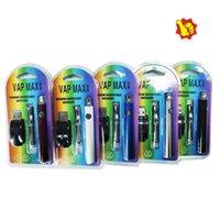 Vap Max Vape Pen Lithium Batterie charge par micro USB Variable Valtion 510 Fil avec 350mAh Power 15s Fonction de préchauffage rapide