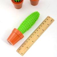 Lindas plumas de bolígrafos de cactus verde 0.5mm Tinta azul Signature Ball Point Bein Pens Nize Regalo School Office Supplies Coreano Papelería RRD7513