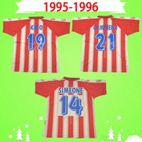Atletico Madrid  jersey Player 버전 1995 1996 레트로 축구 유니폼 홈페이지 CAMINERO BIAGINI PENEV 비즈 카 이노 (95) (96) 빈티지 Camiseta 드 푸 웃 시메오네 축구 셔츠