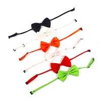 Pet Cravate Dog Collier Collier Bow Fleur Accessoires Décoration Fournitures Pure Color Cat Bowknot Cravate T500723