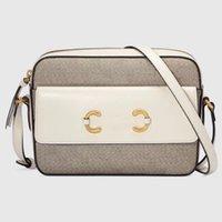 Tuval Moda Erkekler ve Kadın Çantası Tasarımcısı At Bit Toka Retro tarzı çapraz vücut çanta omuz çantaları # 645454