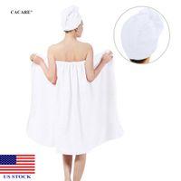 Bain Body Wrap Set Women Soft Spa Serviette Peignoir de peignoir à cheveux secs H0019 US STOCK Livraison rapide
