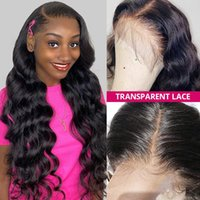 2021 Transparent 4x4 Human Hair Lace Front Wigs Pre Plucked Brazilian Virgin Hair Straight Body Kinky Curly Water Loose Deep Long Length 4X4