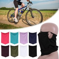 Cycling Caps & Masks Summer Ice Silk Anti-Dust Face Ear Mask Rave Scarf Neck Gaiters Wind Protection Outdoor Motorcycle Headband