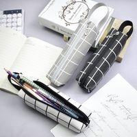 Pencil Case Big Pouch Canvas Pen Bag Zipper Stationery Storage Makeup Cosmetic Bags for Women Men 1221720