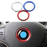 Cor de carro estilo decoração anel direção círculo adesivo para bmw m3 m5 e36 e46 e60 e90 e92 x1 f48 x3 x5 x6