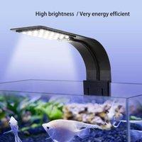 Aquariums Lighting 10W Super Slim LED Aquarium Fish Tank Plants Grow Aquatic Plant Waterproof Clip-On Lamp US EU Plug