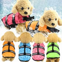 Pet dog life jacket swimsuit clothes supplies summer pet bathing suit big puppy dog life jacket coat