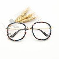 Billig Großhandel koreanische große Frame flache Linse Mode Persönlichkeit Brillen rote Gläser können mit Myopie ausgestattet werden 8935 70% Rabatt auf Online-Verkauf
