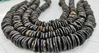 Earrings & Necklace Grey Black Slab Freeform Spacer Heishiwhite Brown Magnesite Turquoise Beads Charm,Natural 17inch