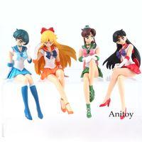 Anime Sailor Moon Break Time Figure Sailor Mars Mercury Venus Jupiter PVC Action Figures Collectible Model Toy Doll Gift X0503