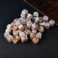 6 pezzi lucidati naturale sakura agata rosa cubo di rose briotte in pietra ghiaia in pietra cristallo rosa lucido serbatoio di pesce decorazioni per il carro armato a