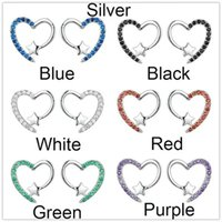White Zircon Cute Heart Stud Earrings For Women Wedding Jewelry Vintage Gold Silver Color Multicolor Stone Small Star Earrings