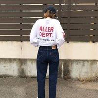 الولايات المتحدة الأمريكية هوليوود الفيلم المشارك سكيت شارع العليا تي شيرت الرجال النساء القطن طويل الأكمام عارضة الشارع الشهير شيرت تي