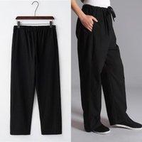 Мужские 100% хлопковые брюки Китая старая грубая ткань плюс удобрения Тайские брюки Chi Все-спиртные