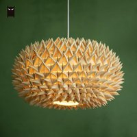 Pendant Lamps Handmade Woven Palm Leaf Braided Light Fixture Rustic Country Japanese Style Natural Hang Ceiling Lamp Tatami Zen Room