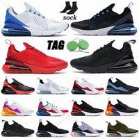 AM 270 Koşu Ayakkabıları Büyük Boy 36-49 Airs Maxe Yastık Sneakers Üçlü Kırmızı Beyaz Siyah Kraliyet Racers Mavi Erkek Eğitmenler Bayan Spor Ayakkabı ABD 13 14 15
