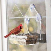 Andere Vogel liefert Acryl-Eichhörnchenfestes klares Fenster-Vogelförderer mit starken Saugnäpfen und schiebeding Samenschale HYD88