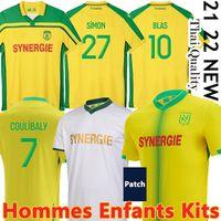 21/22 Maillots FC Nantes 8eme Etoile Futbol Formaları 2000-01 Şampiyonlar 2021 2022 Blas Bamba Simon Louza Muani Girotto Coulicy Futbol Gömlek Maillot De Ayak Erkekler Çocuklar