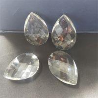 Promozione! 50 PZ 38 * 21mm Chiaro Crystal Faceted Teardrop Goccia d'acqua, taglio prisma appeso pendente gioielli lampadario parte parte perlina acrilica 609 q2