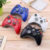 2021 Controlador con cable Xbox 360 Joypad Gamepad Black / White con caja de venta al por menor