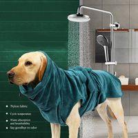 Dog Apparel Pet Pajamas Cat Bathrobe Sleeping Clothes Indoor Soft Bath Super Absorbent Drying Towel Quick Towels