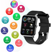 F15PRO Full Touch Smart Watch with Waterproof IP67 support IOS and Android Bluetooth Monitor Function Message Notification Multi-sports Mode Blue Black Pink Color