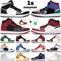 كرة السلة أحذية الرجال النساء 1 ثانية منتصف 1 jumpman إشارة الأزرق العشب البرتقال ألياف الكربون شيكاغو المحظورة الصنوبر الأخضر الظل الأبيض الرياضة أحذية رياضية